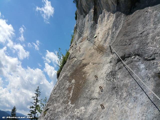 Klettersteig Himmelsleiter : Klettersteig steinplatte